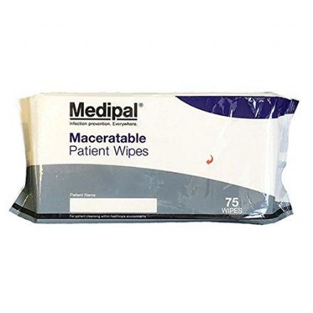 Medipal Maceratable Patient Wipes 75 Pack